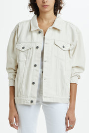 Ksubi Oversized Jacket - Ecru White | Shop at IKON in Arrowtown, NZ