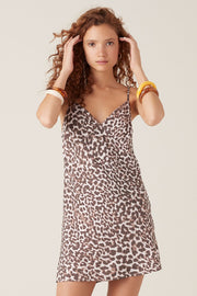 Tigerlily Onari Mini Dress Leopard | shop Tigerlily at IKON, Arrowtown, NZ