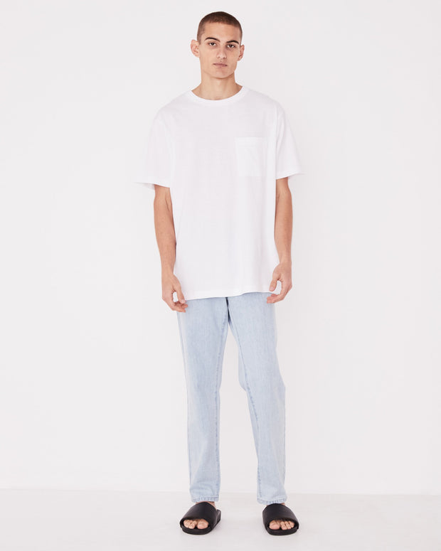 Mens Remi Oversized Pocket Tee White | Shop Assembly Label at IKON