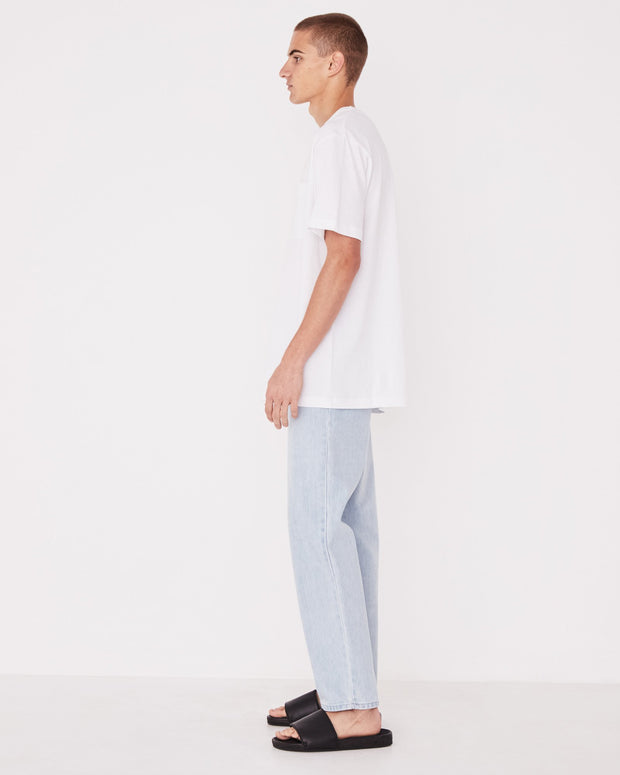 Mens Remi Oversized Pocket Tee - White