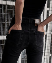 Freebirds Li High Waist Skinny Jean - Black Swan