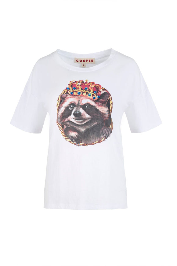 Cooper Rocket Racoon T-Shirt White