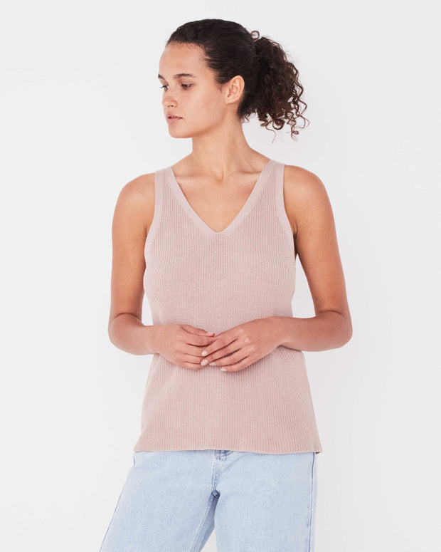 Womens Paige Knit Top - Dusk