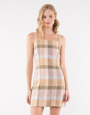 Rainbow Check Dress