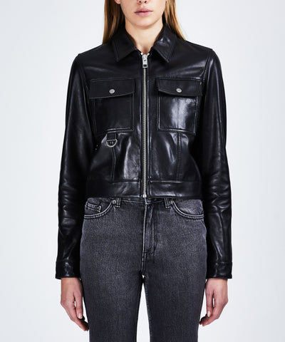 Ksubi Phantom Zip Through Trucker Jacket Black | shop Ksubi at IKON, Arrowtown, NZ