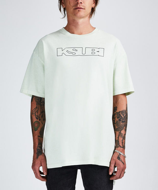 Ksubi Sign Of The Times SS Tee Chlorine Green | shop Ksubi at IKON, Arrowtown, NZ