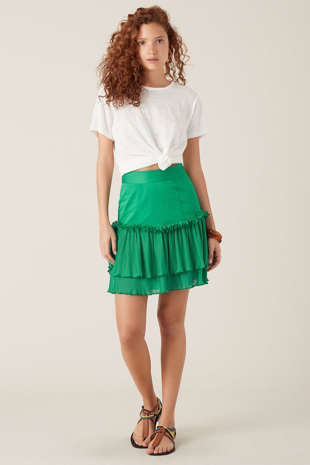 Tigerlily Ronette Skirt Green | shop Tigerlily at IKON, Arrowtown, NZ