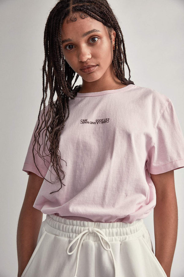 C&M Harvey Tee - Ice Pink | Shop C&M Camilla and Marc at IKON NZ