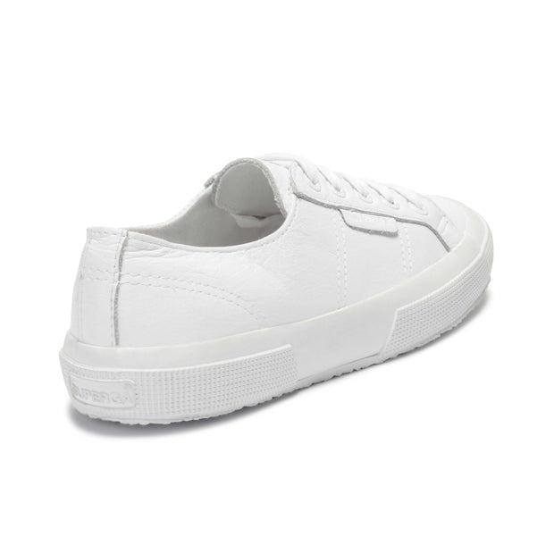 Superga 2750 Tumbled Leatheru Total White | Shop Superga at IKON NZ
