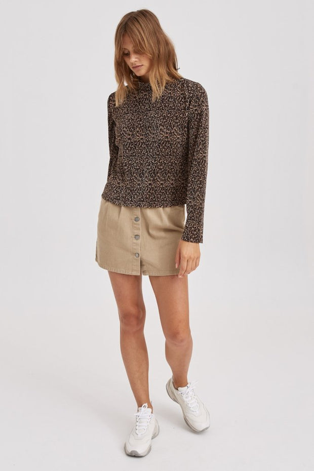Saloon Long Sleeve Top - Leopard
