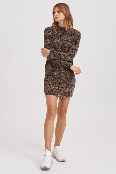 Saloon Mini Dress - Leopard