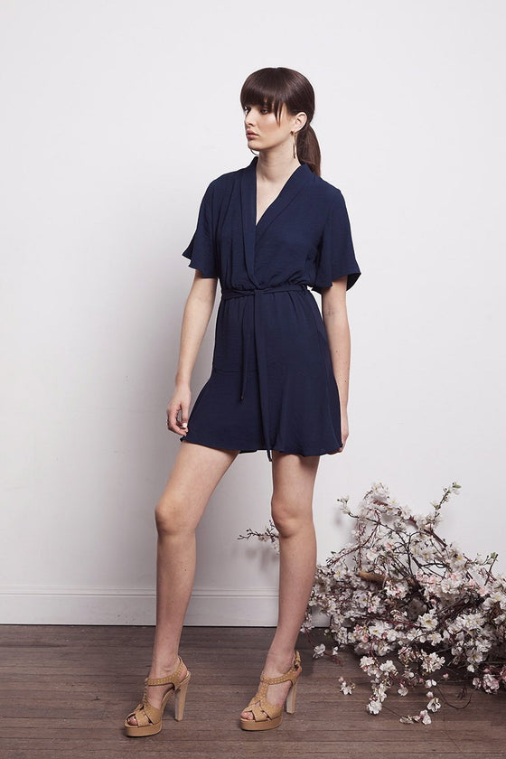 Shilla Social Wavy Dress | Navy | Shop Shilla Online NZ at IKON