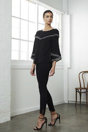 Shilla Status Contrast 3/4 Sleeve Top | Shop Shilla IKON Arrowtown NZ