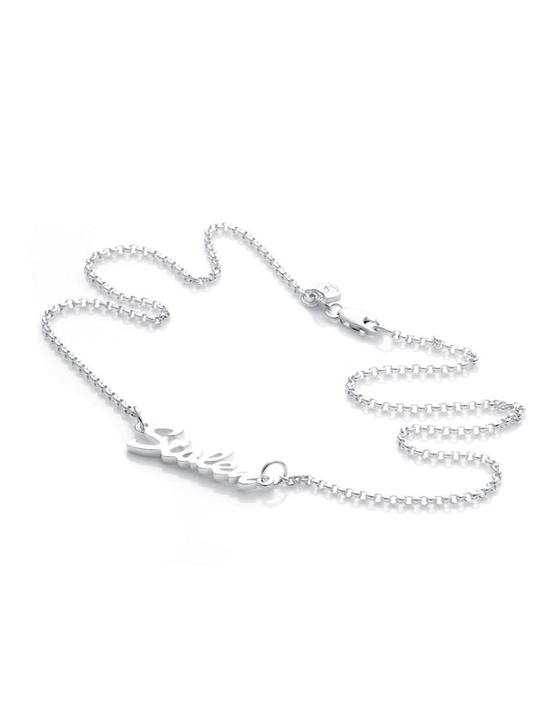 Stolen Script Pendant Silver | Shop Stolen Girlfriends Club at IKON in Arrowtown, NZ