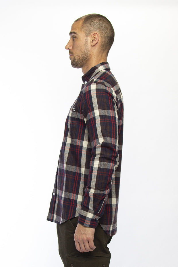 Mens Sunday Shirt - Navy/Red