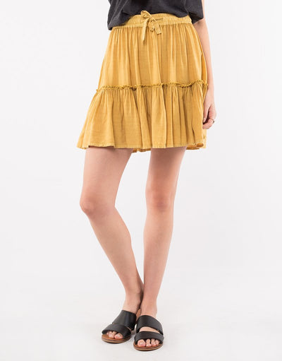Supple Washed Skirt - Yellow