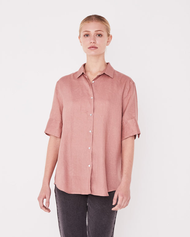 Short Sleeve Shirt Cameo Pink | Shop Assembly Label at IKON