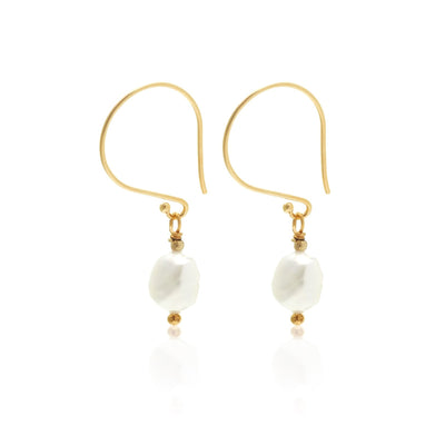 Baroque 'n' Roll Earrings Gold/Pearl | Shop Silk & Steel at IKON NZ
