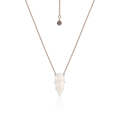 Silk & Steel Diva Necklace Moonstone/Rose