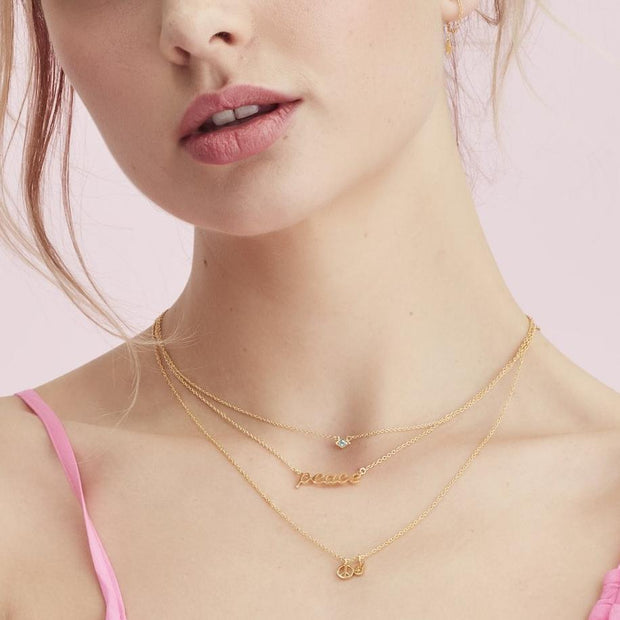 Peace Out Necklace - Gold
