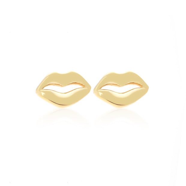 Kiss Me Studs - Gold | Shop Silk and Steel Jewellery at IKON