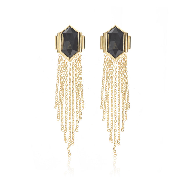 Glamour Earrings Black/Gold shop online or in store at IKON