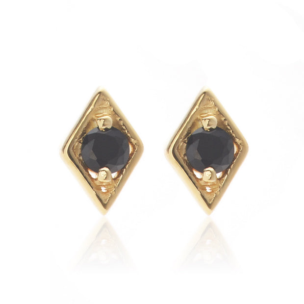 Keepsake Stud - Black/Gold | Shop Silk and Steel Jewellery at IKON