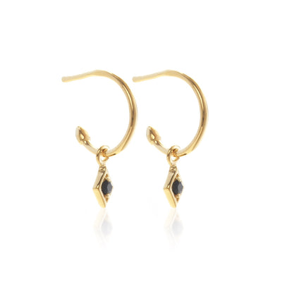 Keepsake Hoop - Black/Gold | Shop Silk and Steel Jewellery at IKON