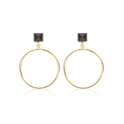 Vibes Earring - Black/Gold shop online or in store at IKON
