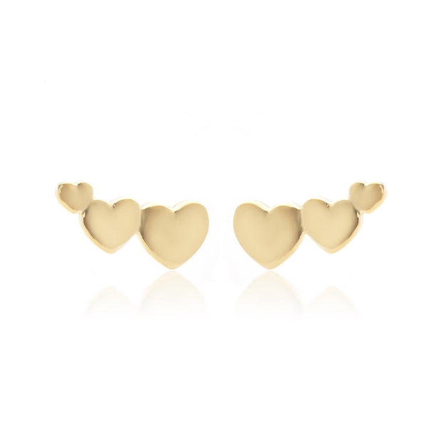 Sweetheart Ear Climber - Gold | Shop Silk and Steel Jewellery at IKON