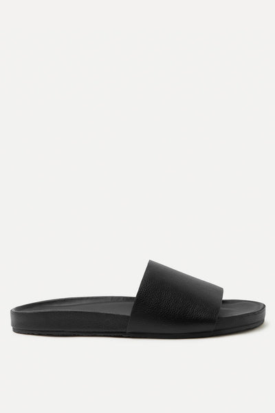 Single Strap Slide - Black Leather | Shop Assembly Label at IKON NZ