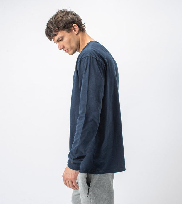 Slub Box Long Sleeve Tee - Washed Ink