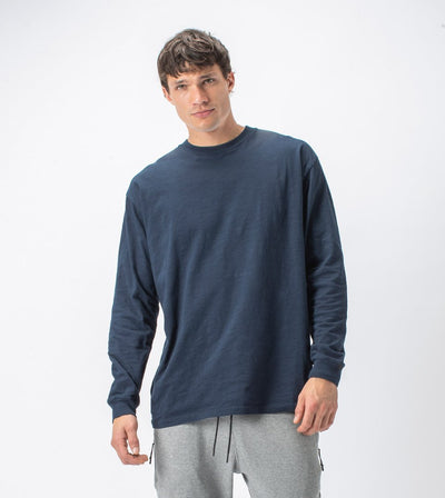 Slub Box Long Sleeve Tee Washed Ink | Shop Zanerobe at IKON NZ