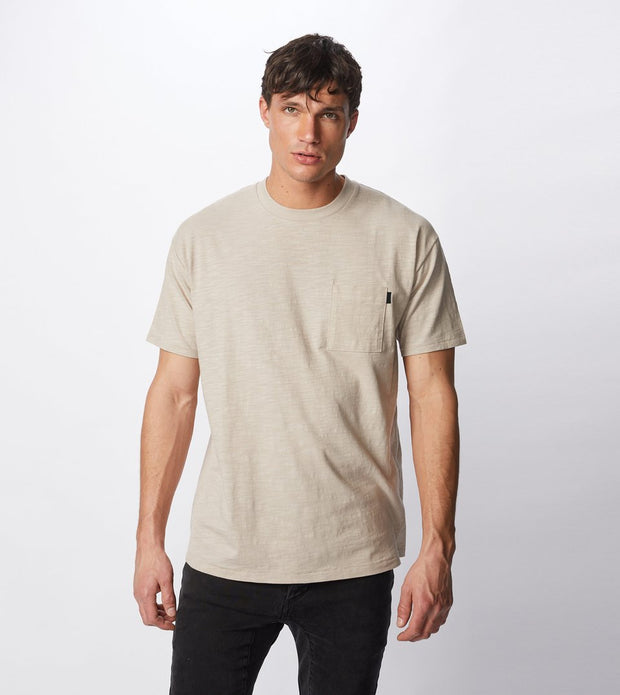 Slub Box Pocket Tee - Bread