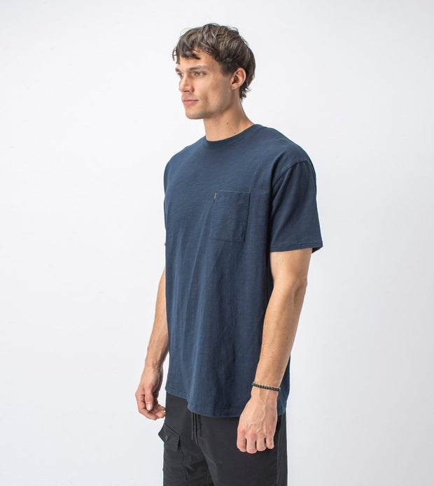 Slub Box Pocket Tee - Washed Ink