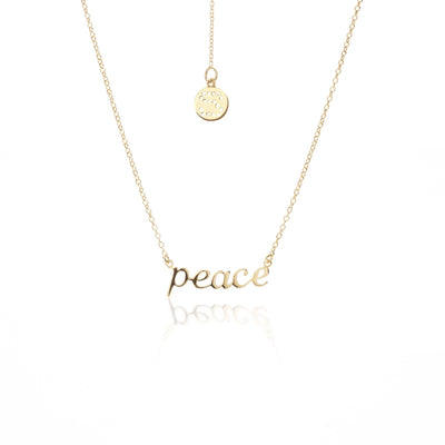 Peace Necklace - Gold