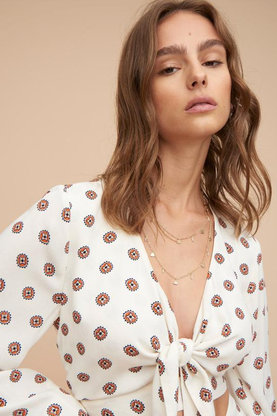 Tigerlily Seiren Cropped Top - Ivory | Shop Tigerlily at IKON NZ