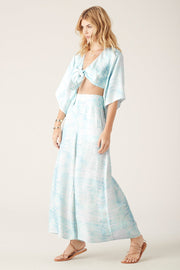 Tigerlily Saras Wide Leg Pant - Blue