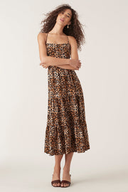 Tigerlily Divya Midi Dress Leopard | Shop Tigerlily at IKON NZ