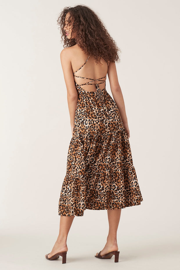 Tigerlily Divya Midi Dress - Leopard