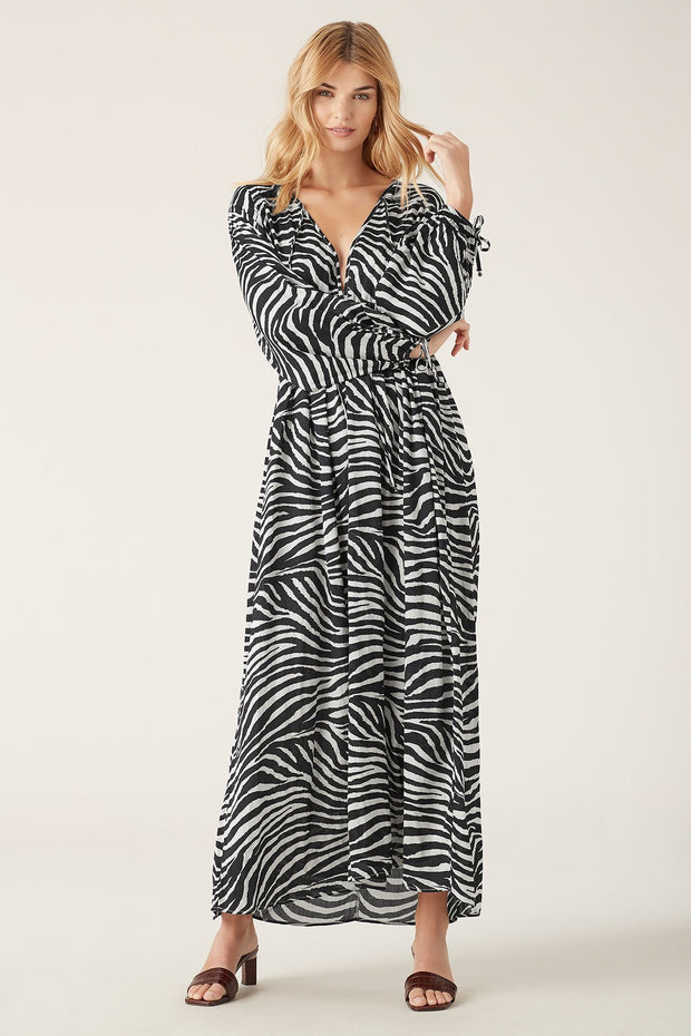 Tigerlily Zoya Long Sleeve Dress Zebra | Shop Tigerlily at IKON NZ
