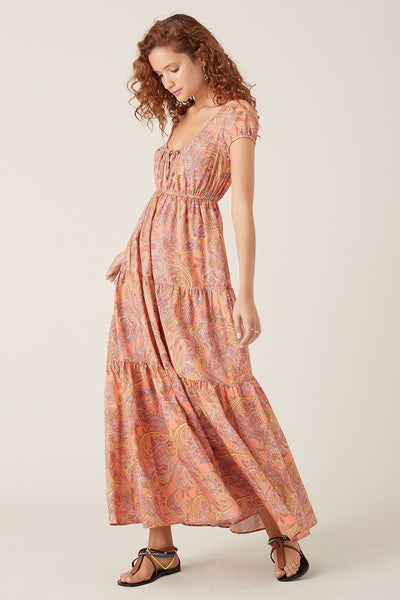 Tigerlily Sisandia Tiered Maxi Dress - Pink | shop Tigerlily at IKON, Arrowtown, NZ