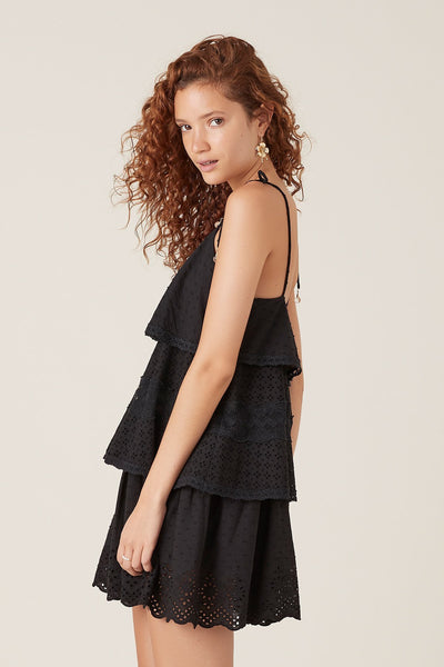 Tigerlily Elati Short Dress Black | shop Tigerlily at IKON, Arrowtown, NZ