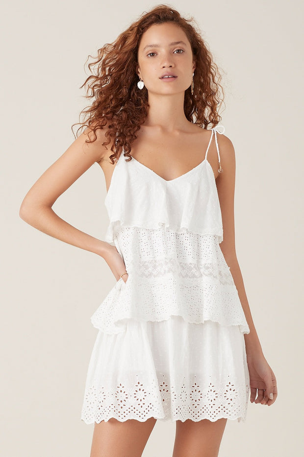 Tigerlily Elati Short Dress - White | Shop Tigerlily at IKON in Arrowtown, NZ