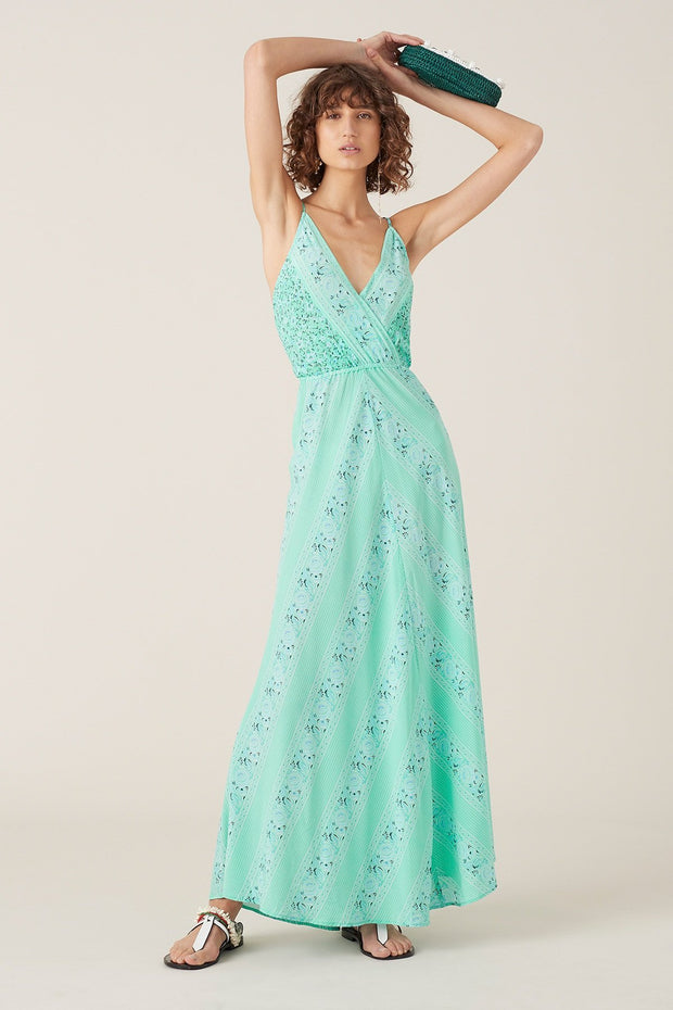 Tigerlily Nilla Sleeveless Maxi Dress - Turquoise | shop Tigerlily at IKON in Arrowtown, NZ