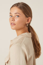 Akela Hoop Earring - Light Tort