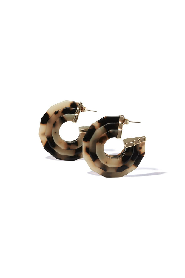 Akela Hoop Earring - Light Tort | shop Tigerlily at IKON, Arrowtown, NZ