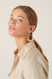 Polu Hoop Earrings - Opal