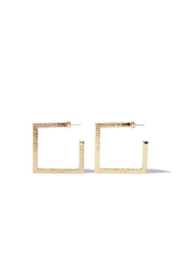 Kula Small Square Earrings - Gold | shop Tigerlily at IKON, Arrowtown, NZ