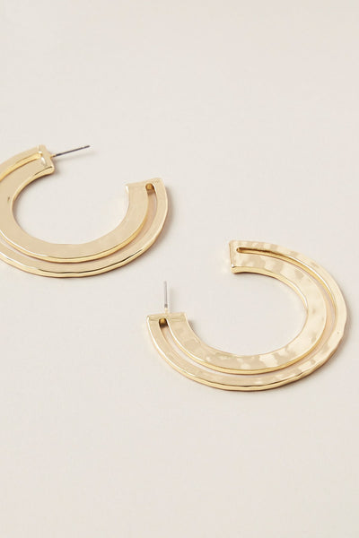 Ruchi Large Hoop Earring - Gold | Shop Tigerlily at IKON NZ
